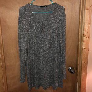 Apt. 9 Sweaters - Tie up gray sweater